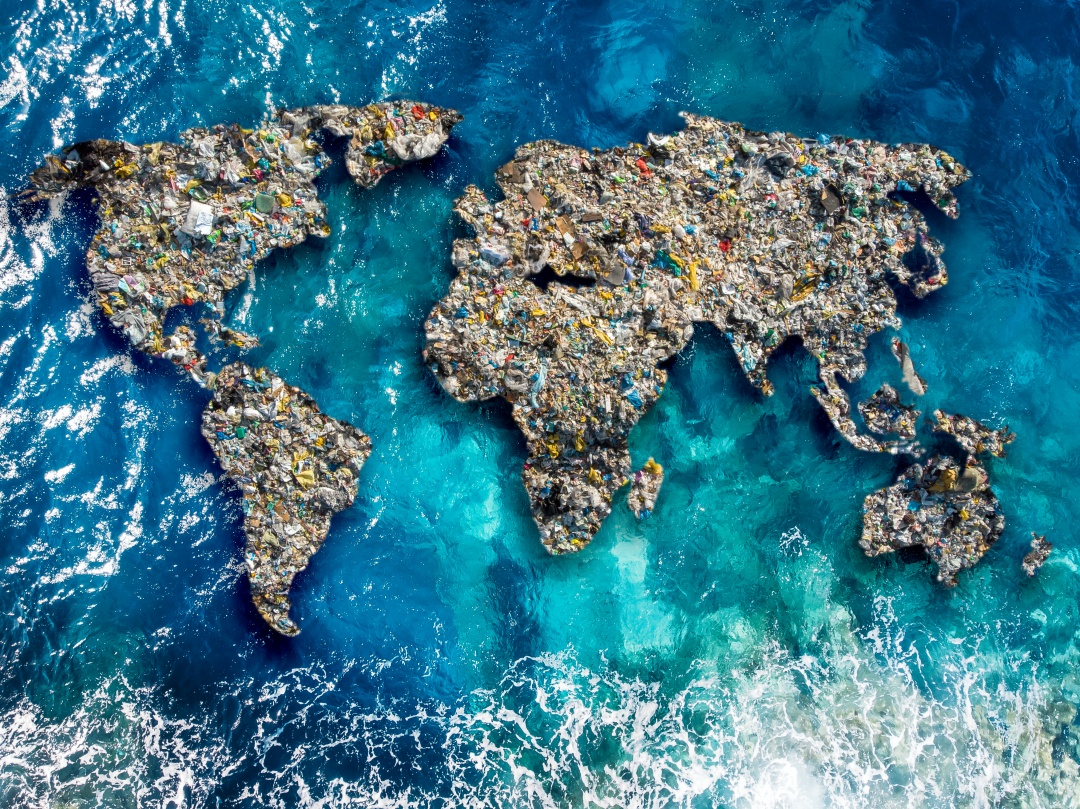 Continents covered in waste