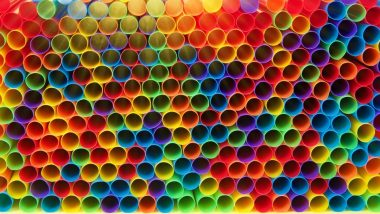 Pile of drinking straws