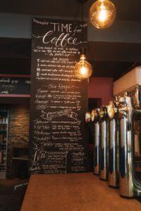 Barista bar and menu
